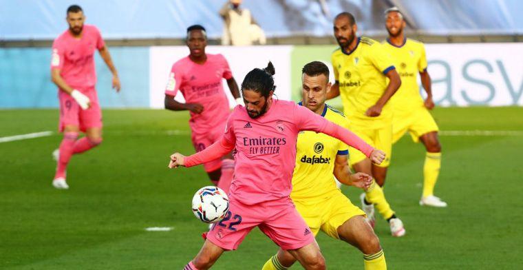 Courtois en Real Madrid gaan pijnlijk onderuit tegen promovendus Cadiz