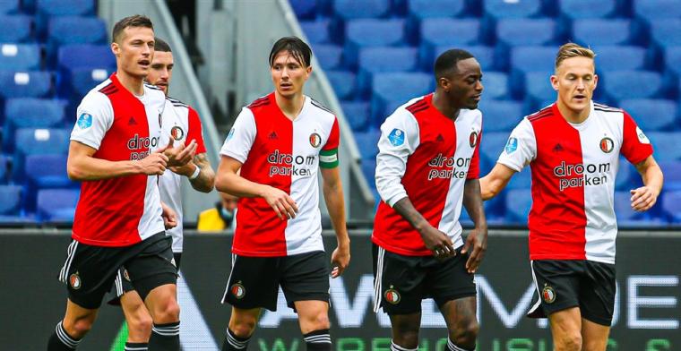 Hoofdsponsor Feyenoord maakt in Europa League plaats voor andere sponsor