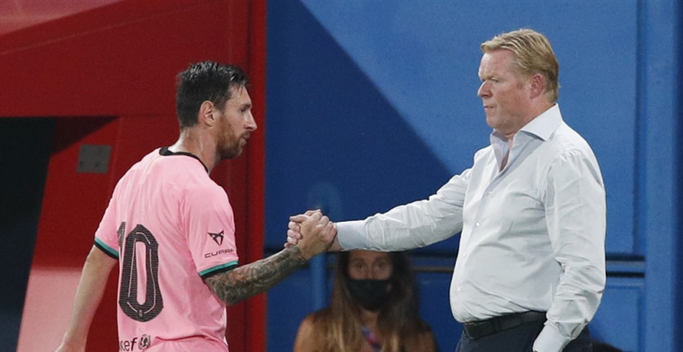 Koeman uit lichte kritiek op Messi: 'Zou kunnen dat hij beter kan presteren'