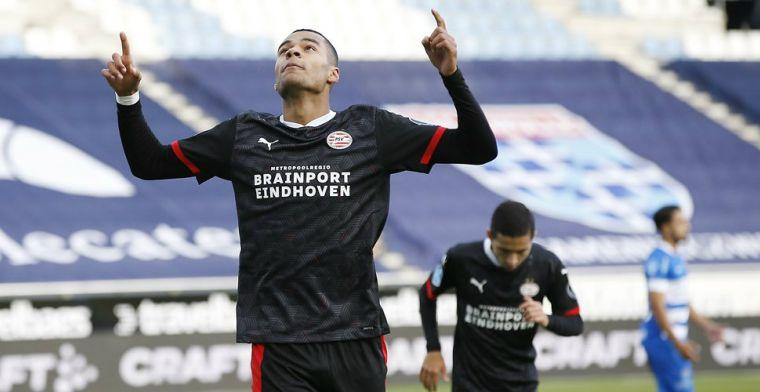 'Gakpo koos voor langer PSV-verblijf ondanks interesse uit Frankrijk'