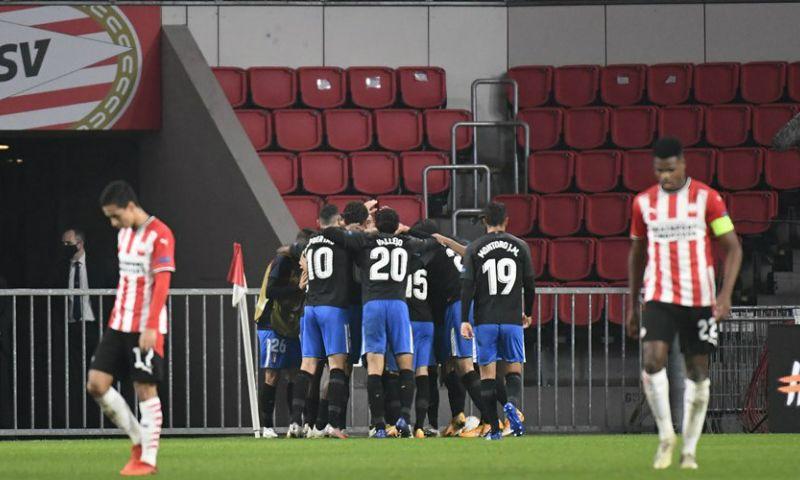 Afbeelding: Valse start in Europa League voor PSV: Machís beslist duel met prachtige treffer