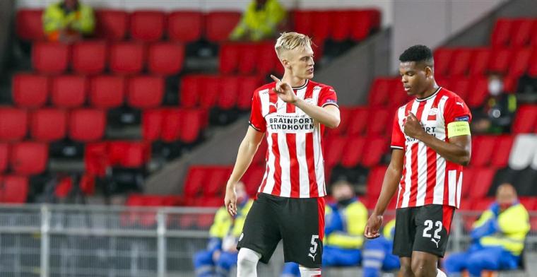 PSV-verdedigers krijgen ervan langs na zeperd: Moet je die Baumgartl zien