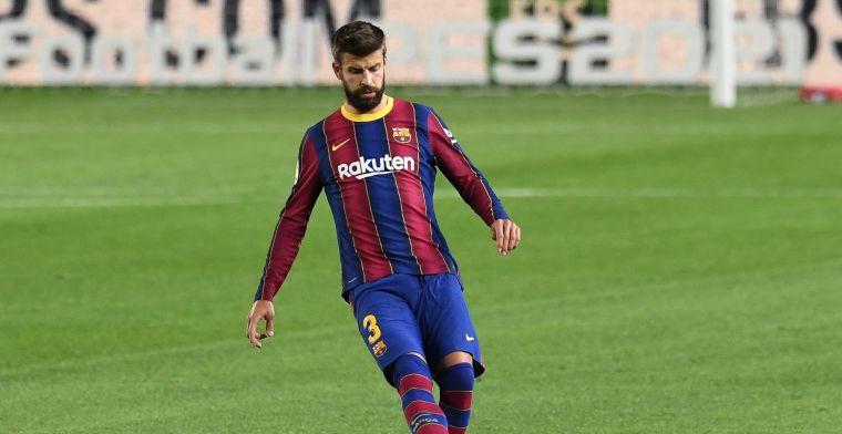 Piqué reageert op 'Messi-rel': 'Nieuwe stadion en sponsor moeten zijn naam dragen'