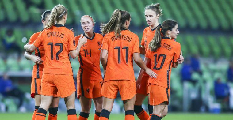 EK-ticket is binnen voor Oranje Leeuwinnen: walk-over tegen weerloos Estland