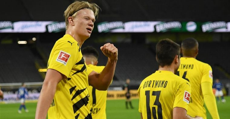 Haaland scoort in Revierderby: Dortmund vergroot crisis bij aartsrivaal Schalke