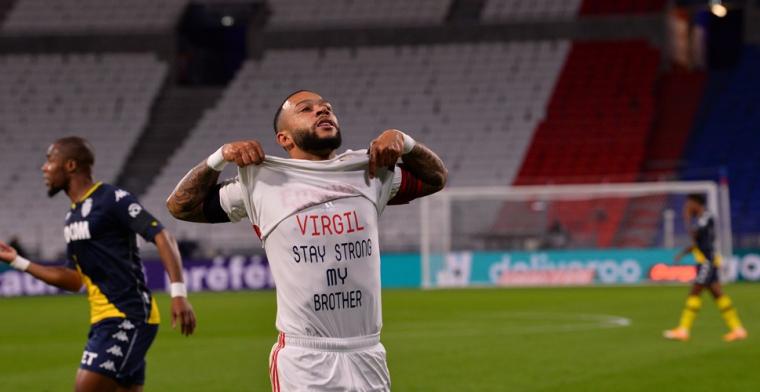 Memphis draagt steentje bij aan ruime zege Lyon, Vardy beslist topper in slotfase