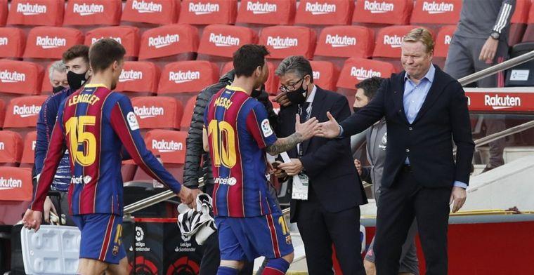 Crisissfeertje bij FC Barcelona: 'Koeman wisselde uit wanhoop'