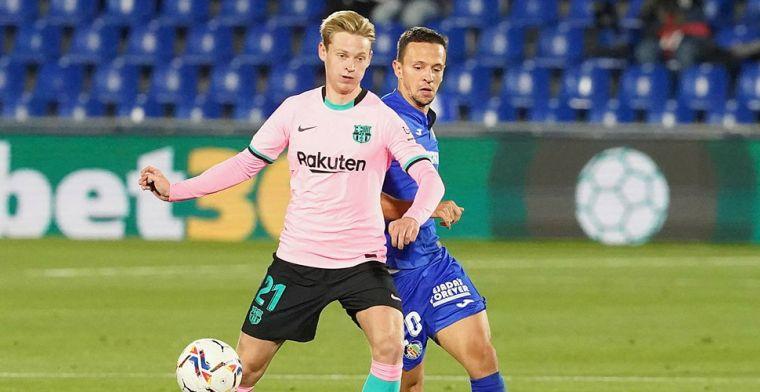 De Jong onder de indruk van ploeggenoot: 'Blij dat hij naar de club gekomen is'