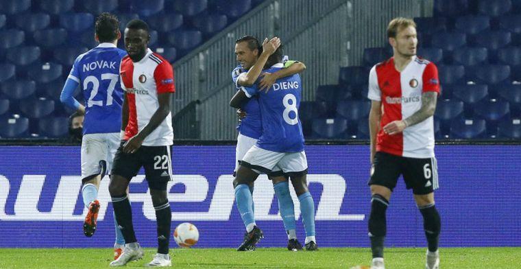 Tragikomedie in De Kuip: drie penalty's tegen, eerste nederlaag Feyenoord in 2020