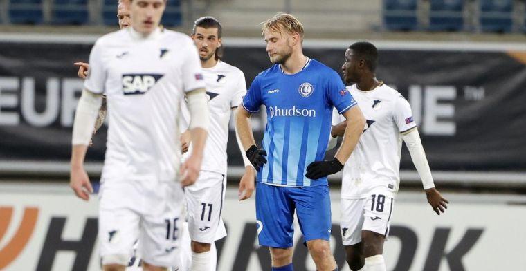 Gent blijft sukkelen en gaat ook pijnlijk onderuit tegen TSG Hoffenheim