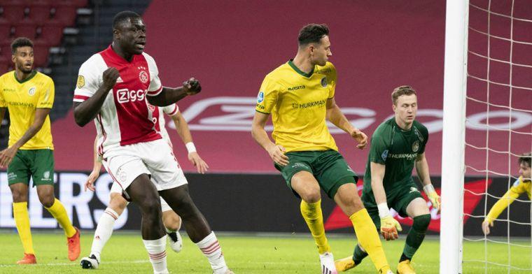 Ajax krijgt drie penalty's en wint van dapper Fortuna: Brobbey zet traditie voort