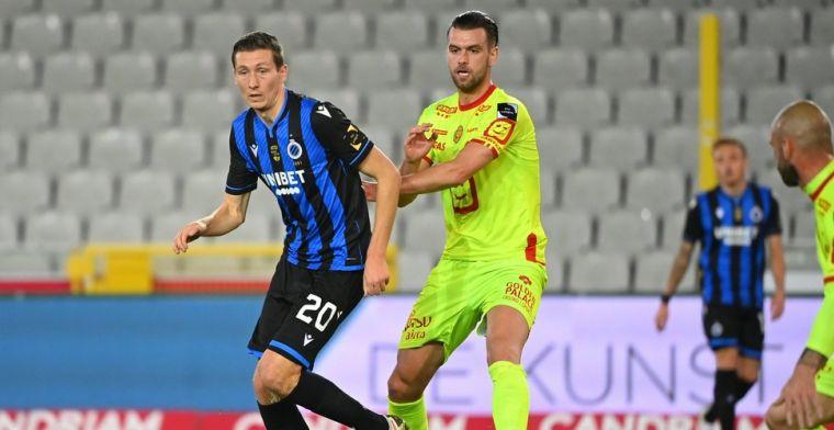 Matig Club Brugge geeft dubbele voorsprong tegen KV Mechelen uit handen