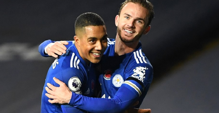 Goudhaantjes Vardy en Tielemans bezorgen Leicester tweede plaats in Engeland