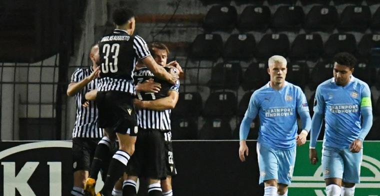 PSV gaat hard onderuit bij PAOK na vreselijke tweede helft
