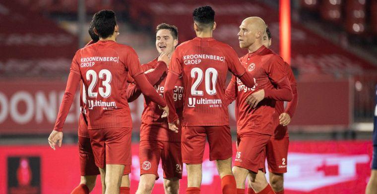 Almere City verstevigt koppositie in KKD, NEC laat punten liggen tegen Helmond