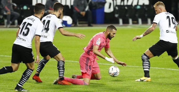 Real krijgt vier strafschoppen tegen in Valencia en moet de punten achterlaten