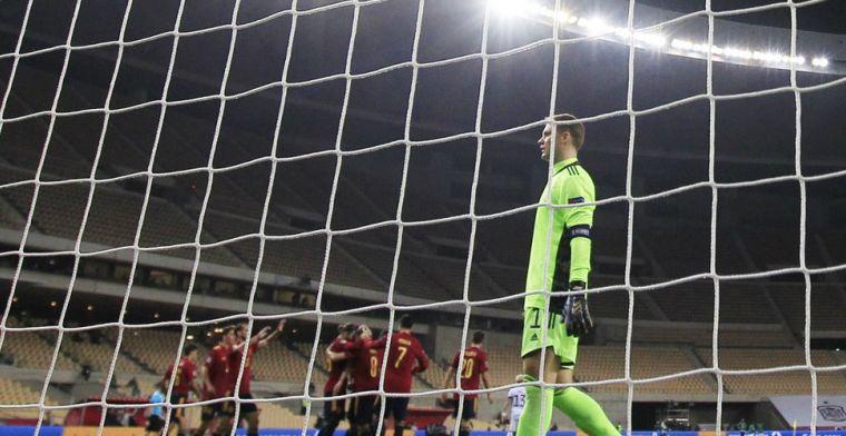 Historisch: Duitsland krijgt er zes (!) om de oren in Sevilla en mist Final Four
