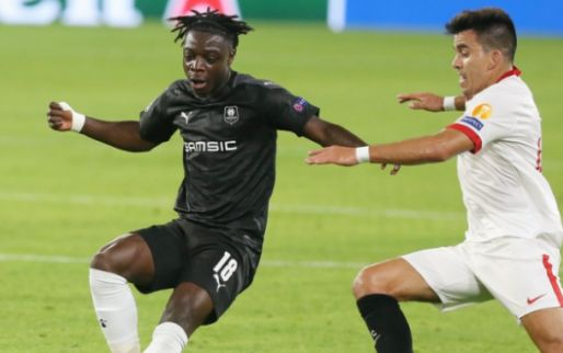 Afbeelding: Invaller Doku trapt op de paal en kan nederlaag Rennes niet verhinderen