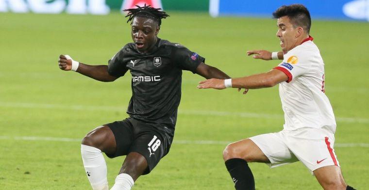 Invaller Doku trapt op de paal en kan nederlaag Rennes niet verhinderen