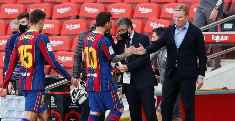 Koeman is er klaar mee: 'Ik begrijp wel dat Messi pissig was, het is respectloos'