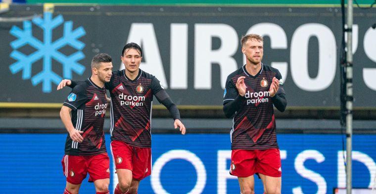 LIVE: Tiental Feyenoord toont karakter en pakt zege in Sittard (gesloten)