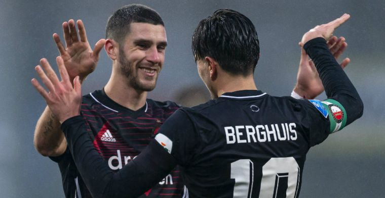 Berghuis: 'Gewoon een hele leuke gozer, fantastische aankoop van Feyenoord'