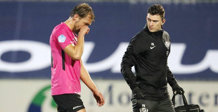 Utrecht-aanvoerder Janssen houdt emoties in bedwang: 'Het is zwaar klote'