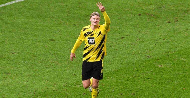 Dortmund-uitblinker Haaland ziet jongeling debuteren: 'Grootste talent ter wereld'
