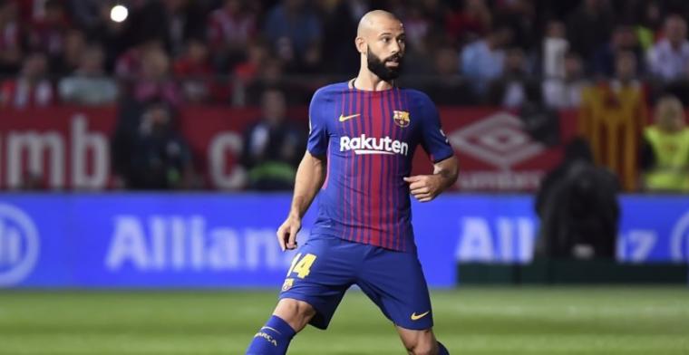 Koeman met handen in het haar bij Barça: gestopte Mascherano lacht gerucht weg
