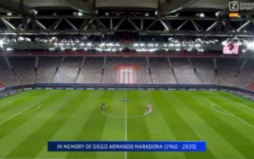 Kippenvel: clubs in Champions League brengen eerbetoon aan Maradona