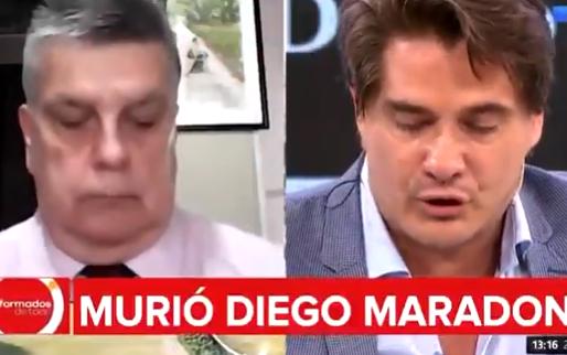 Argentijnse journalist breekt op livetelevisie als hij overlijden Maradona meldt