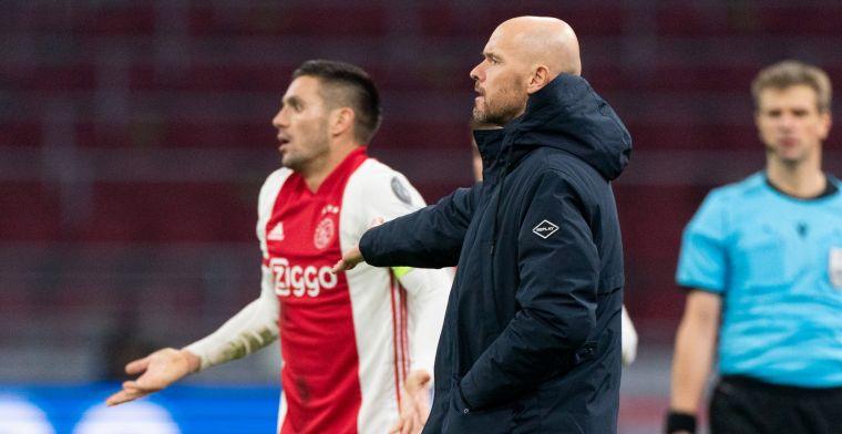 Ten Hag noemt 'smetje' na verdiende Ajax-zege: 'De jongens waren er boos over'