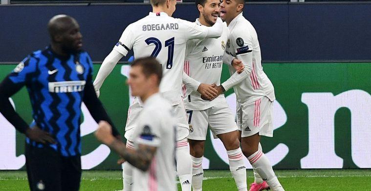 Hazard zet Real op weg naar cruciale overwinning tegen Inter Milaan
