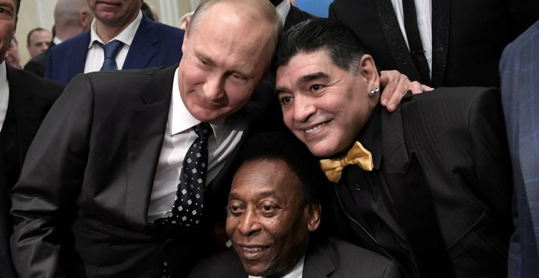 Icoon Pelé zwaait icoon Maradona uit: 'Ooit een balletje trappen in de hemel'