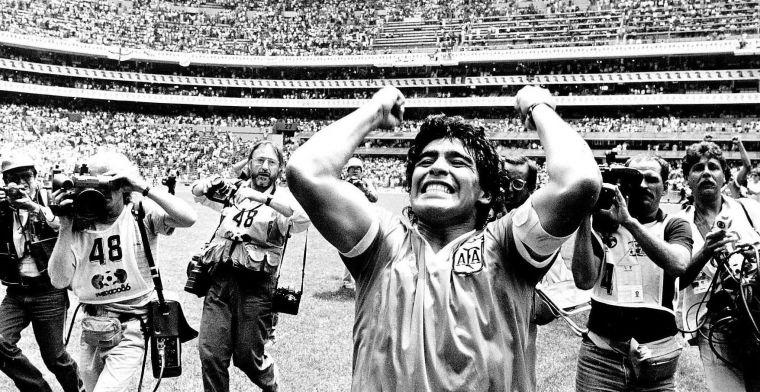 Kranten eren met cover Maradona, Engelsen vallen duidelijk uit de toon