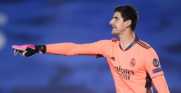 Courtois na clean sheet bij Real Madrid: Rode kaart was kantelpunt