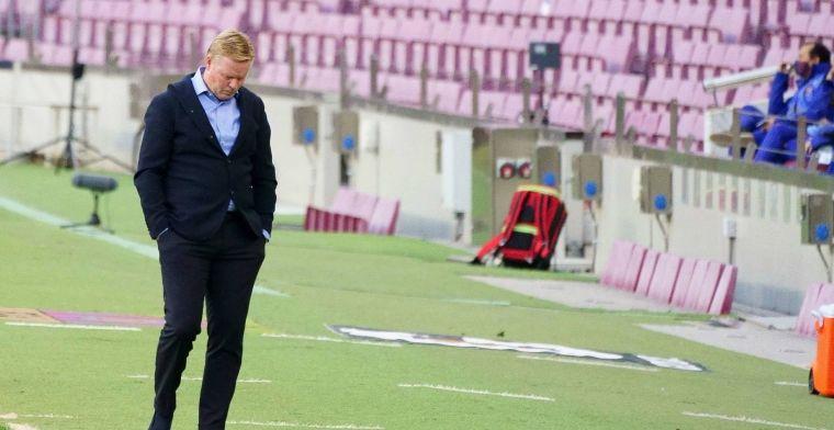 'Koeman is akkoord met rigoureuze maatregel Barcelona en moedigt spelers aan'