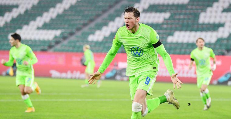 Weghorst na 'dubbelslag' tegen Werder Bremen: 'Soms weet je dat het jouw bal is'
