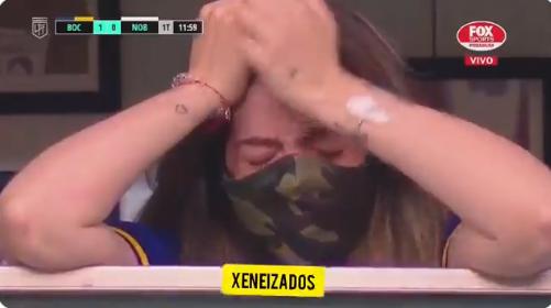 Afbeelding: Hartverscheurend: tranen bij dochter Maradona na eerbetoon Boca Juniors