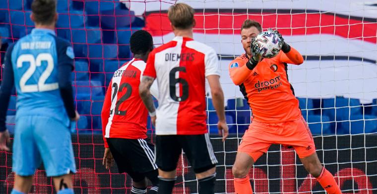 'Dit was wel mijn beste wedstrijd als keeper van Feyenoord, gaat steeds beter'