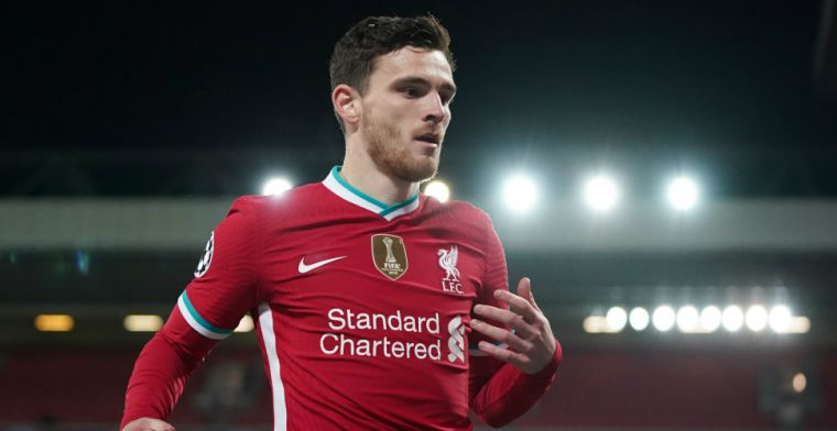 Liverpool-back Robertson op zijn hoede: 'Los daarvan blijft Ajax Europese gigant'