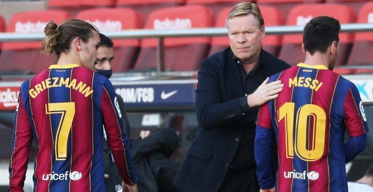 Koeman besluit Messi thuis te laten na gesprek: 'Twee momenten voor rust'