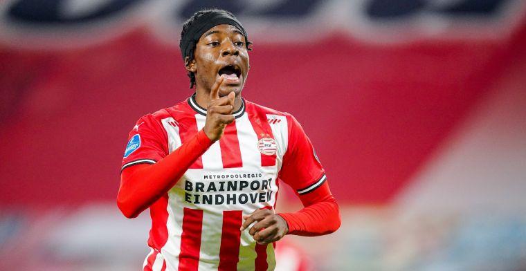 Madueke wijst naar PSV en Ajax: 'Topclubs in Europa, gewoon logisch om te doen'