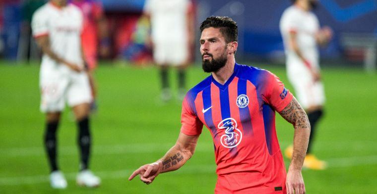 Giroud hoopt op verandering bij Chelsea: 'Daar ben ik van overtuigd'