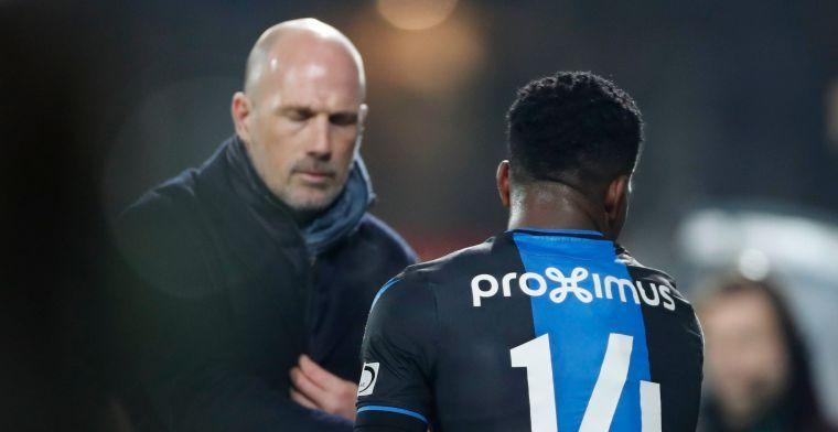 Geen Okereke meer in de spits bij Club Brugge, Clement denkt aan andere rol