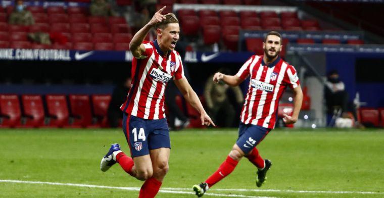 Atlético overnacht als La Liga-koploper, invaller Llorente goudhaantje