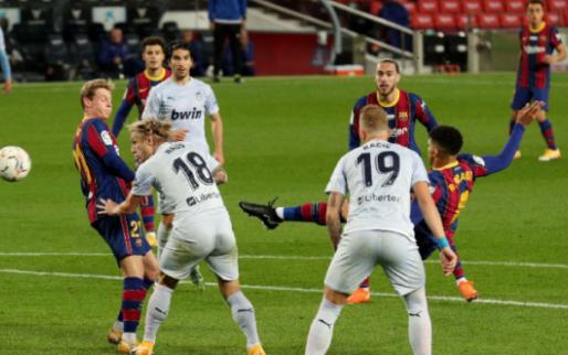 Afbeelding: Valencia brengt zwaktes Barcelona weer aan het licht, terug puntenverlies
