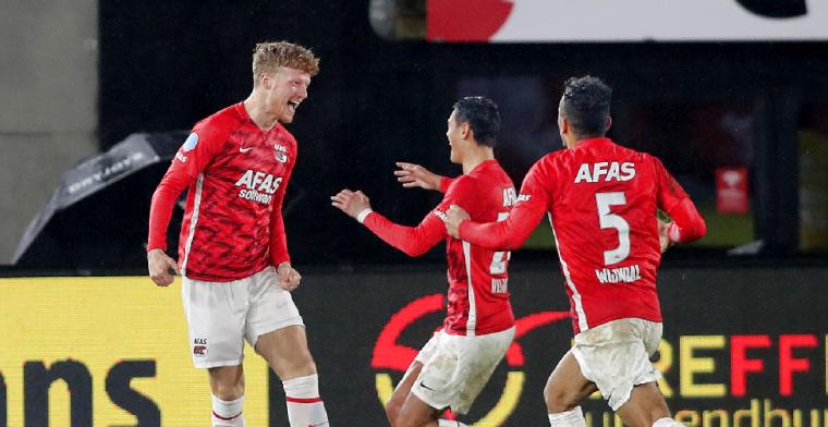Druijf (AZ) zet Eredivisie-record neer: 'Ik hoorde het, dat is mooi natuurlijk'