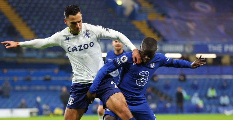 El Ghazi wéér belangrijk voor Villa, dat een knap punt pakt bij Chelsea