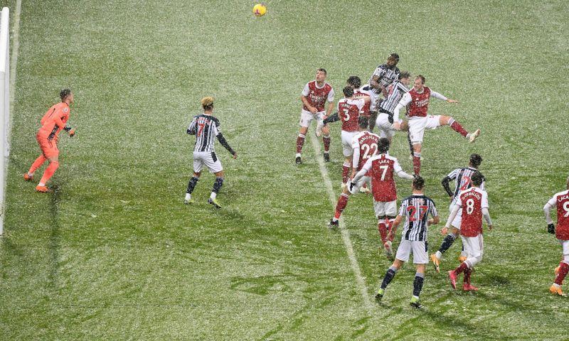 Afbeelding: Arsenal leeft op in de sneeuw en nadert linkerrijtje na derde zege op rij